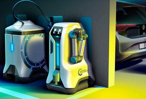 Volkswagen спроектировал зарядного робота для электрокаров