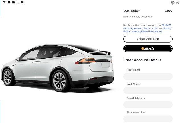 Tesla начала торговать электрокарами за биткоины