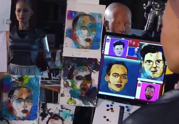 Нарисованный роботом Софией NFT-портрет ушел с молотка за 688 тыс. USD