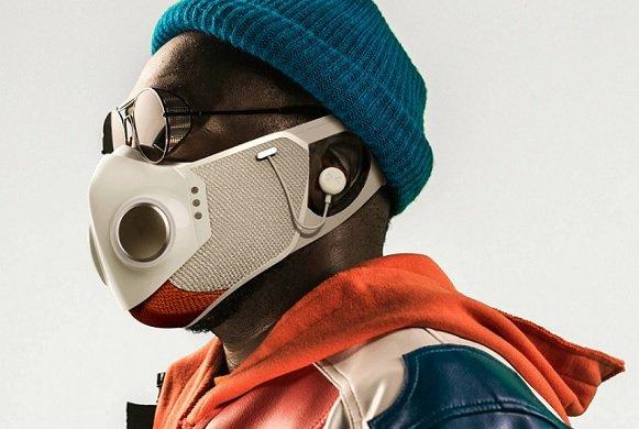 Рэпер и дизайнер из SpaceX представили подключаемую к смартфону защитную маску стоимостью 299 USD