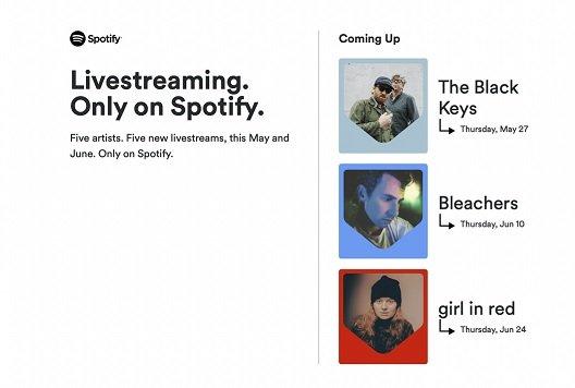 В приложении Spotify появятся трансляции выступлений артистов